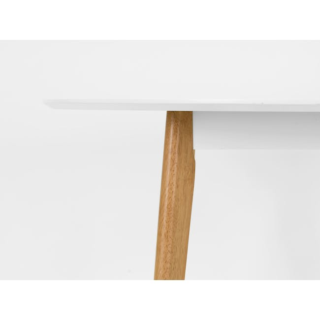 Harold Round Dining Table 1m - Natural, White - 2