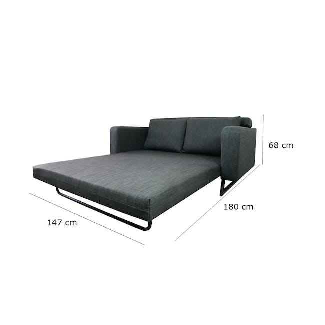 Aikin 2.5 Seater Sofa Bed - Grey - 8