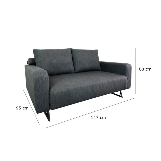 Aikin 2.5 Seater Sofa Bed - Grey - 7