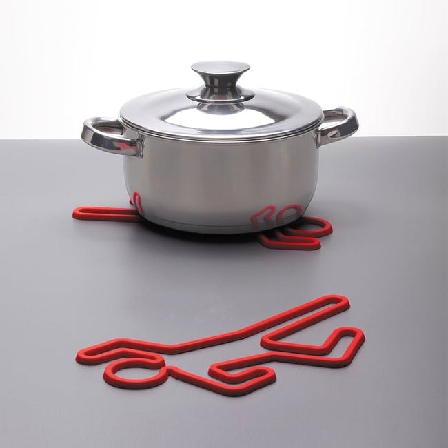PELEG DESIGN Crime Scene Hot Pot Trivet - Red - 1