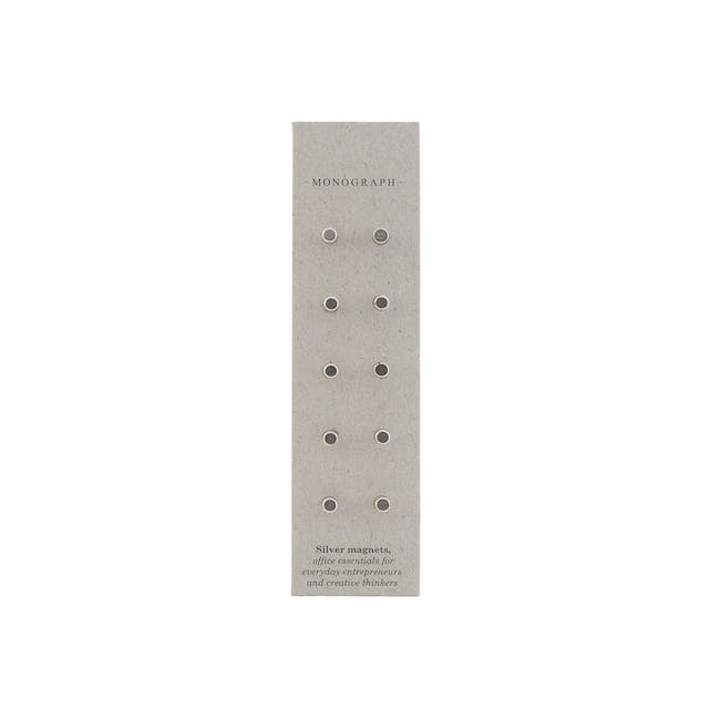 Neo Stud Magnets - Silver (Set of 10) - 0