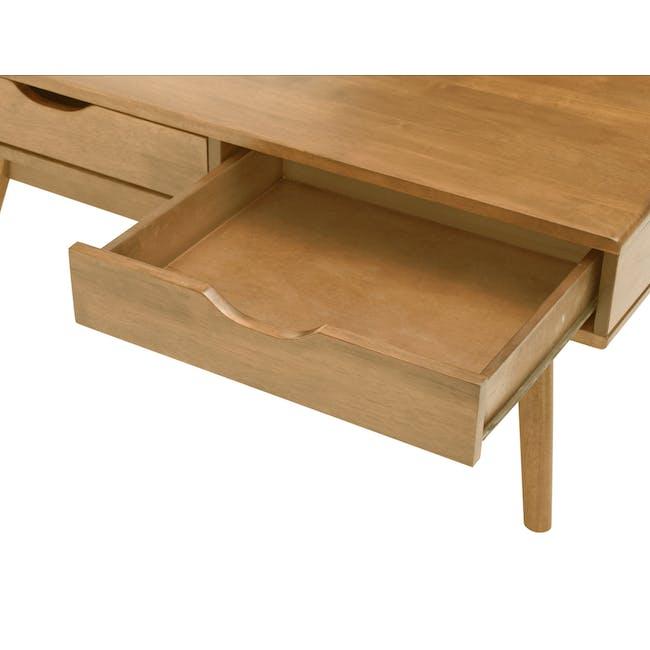 Lamar Twin Drawer Coffee Table - Oak - 7