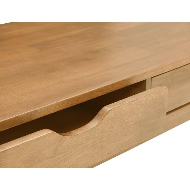 Lamar Twin Drawer Coffee Table - Oak - 5