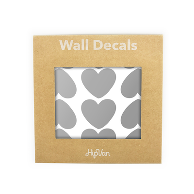 Peaches Heart Wall Decal (Pack of 60) - Silver
