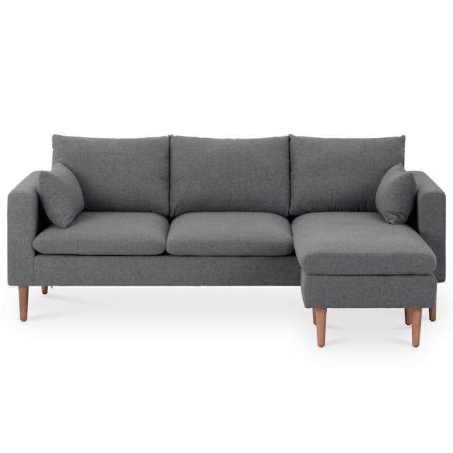 Alicia L-Shaped Sofa - Charcoal Grey - 0