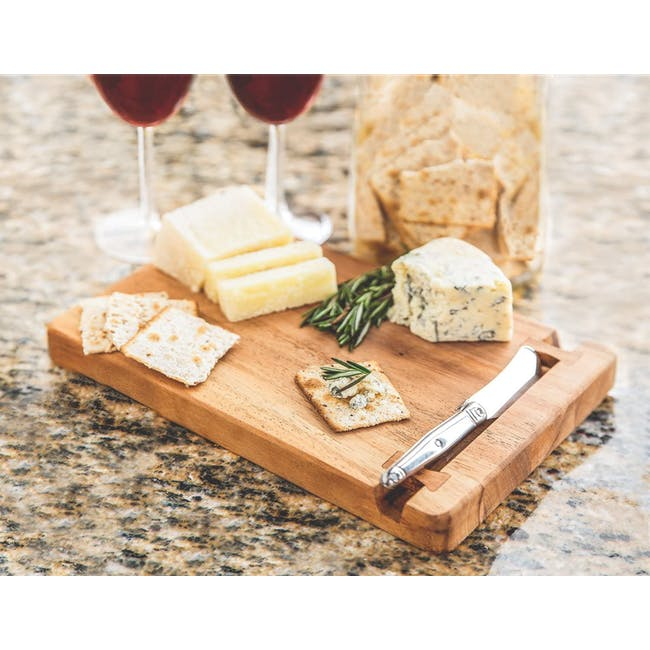 Ironwood Cutting Cheese Acacia Board With Small Knife Holder - 1