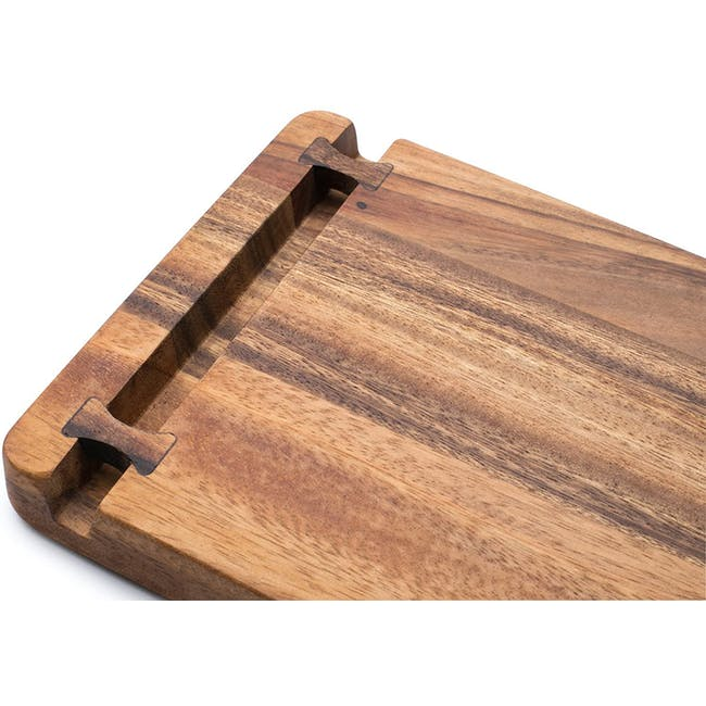 Ironwood Cutting Cheese Acacia Board With Small Knife Holder - 2