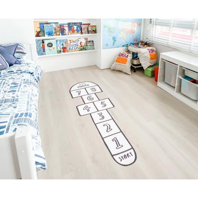 Urban Li'l Hopscotch Fabric Floor Decal - Black - 1