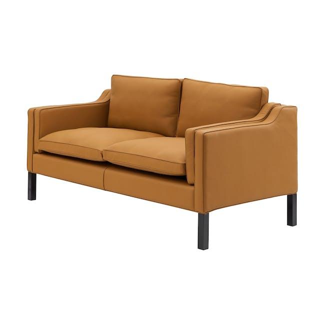 Borge Mogensen 2213 2 Seater Sofa Replica - Tan (Genuine Cowhide) - 1