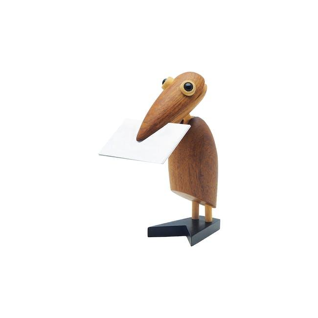 Gary the Bird - Teak Wood Sculpture - 0