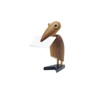 Gary the Bird - Teak Wood Sculpture - Image 2