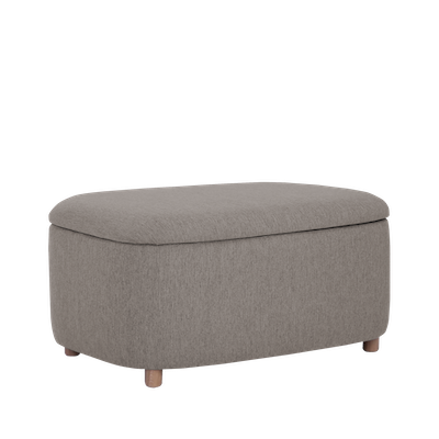Galio Large Storage Pouf - Oak Brown - Image 1