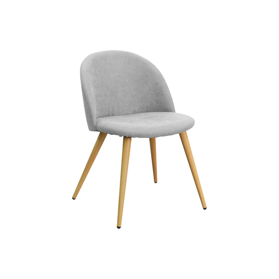 KSD - Chloe Dining Chair - Natural, Pebble Grey (Fabric)