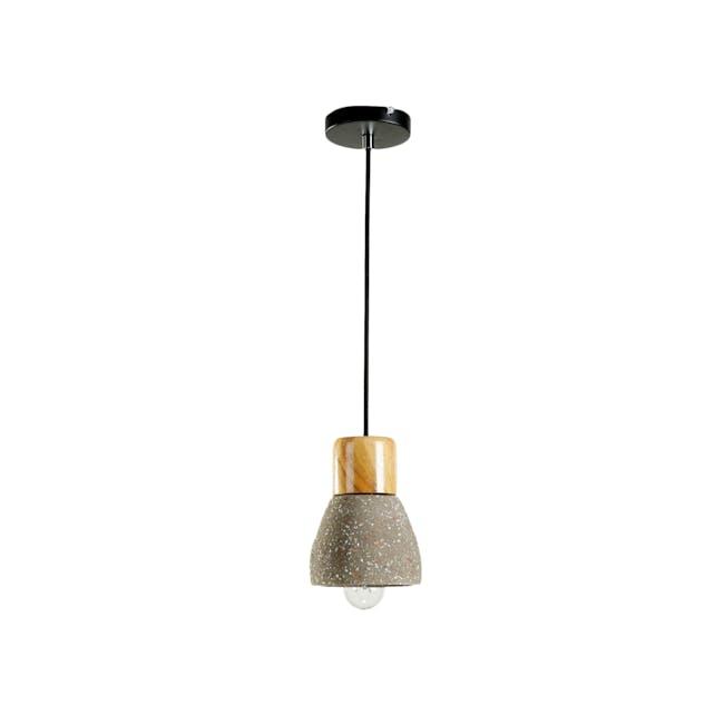 Charlie Concrete Pendant Lamp - Sprinkled - 0