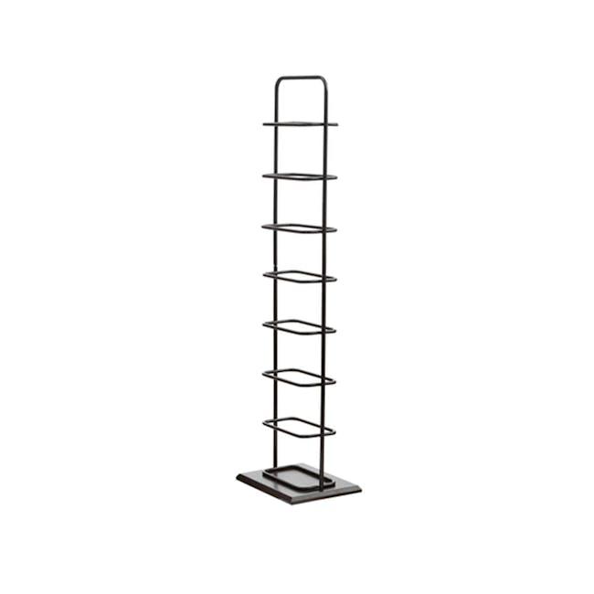 Chester Shoe Rack - Black, Walnut - 0