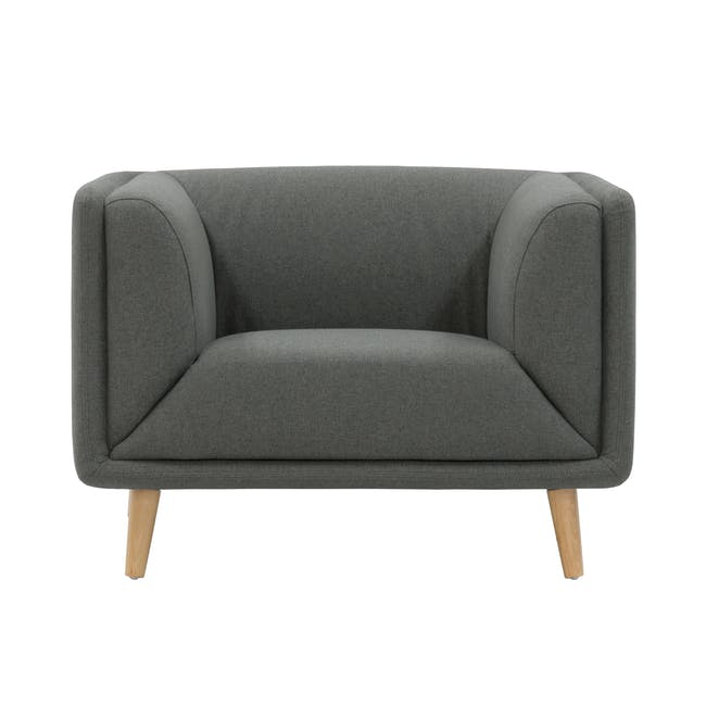 Audrey 3 Seater Sofa with Audrey Armchair - Granite - 5