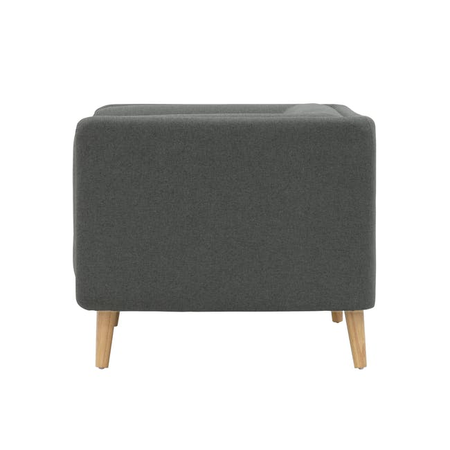 Audrey 3 Seater Sofa with Audrey Armchair - Granite - 7