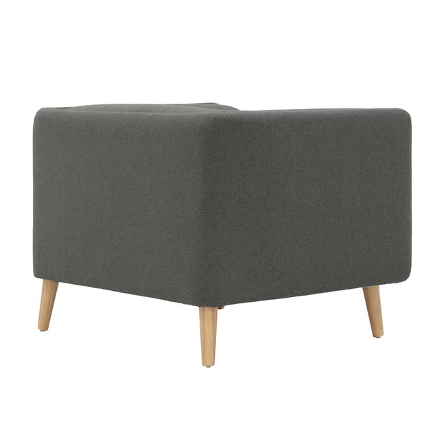 Audrey 3 Seater Sofa with Audrey Armchair - Granite - 8