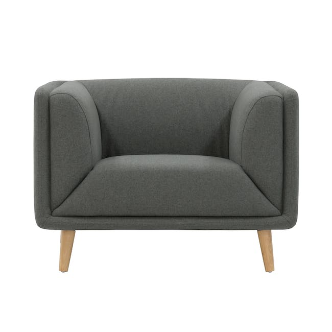 Audrey 2 Seater Sofa with Audrey Armchair - Granite - 1