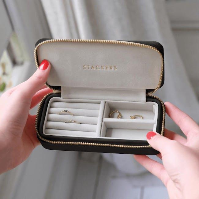 Stackers Medium Travel Jewellery Box - Black - 1