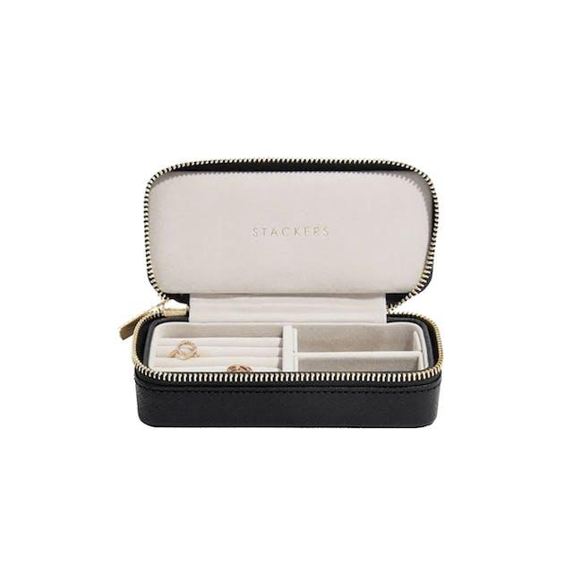 Stackers Medium Travel Jewellery Box - Black - 0