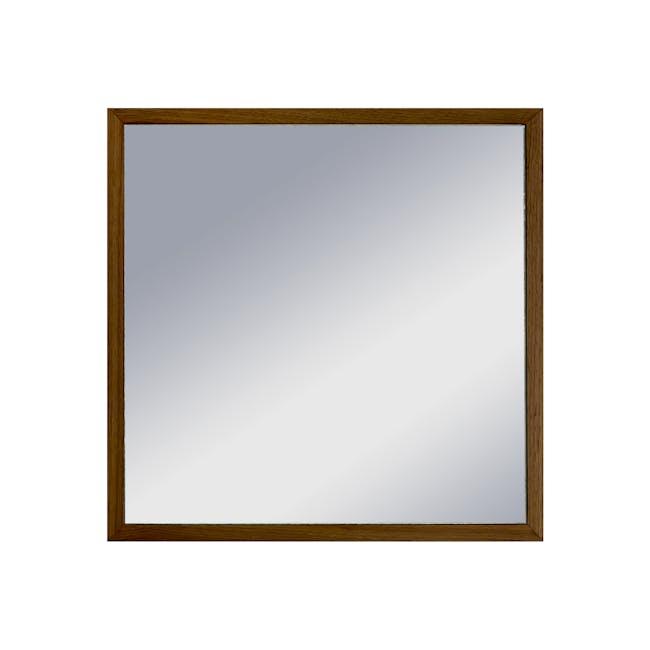 Hosta Square Mirror 40 x 40 cm - Walnut - 0