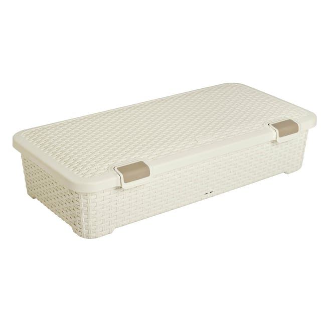 Style Roller Box with Lid 42L - Off White - 0