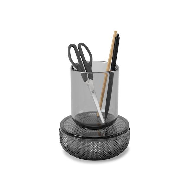 Allira Glass Organiser - Smoke - 0