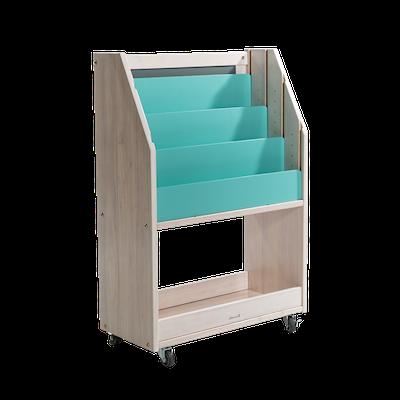 Julian Bookshelves - Whitewash, Teal Blue - Image 2