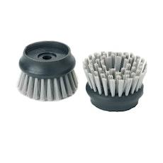 Palm Scrub Replacement Bristle Head (Set of 2) - Grey