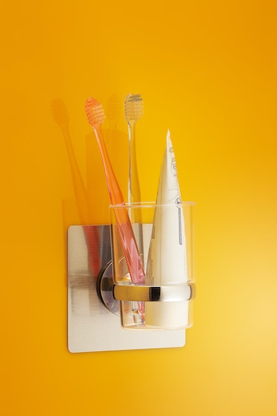Chrome Toothbrush & Cup Holder - Image 2