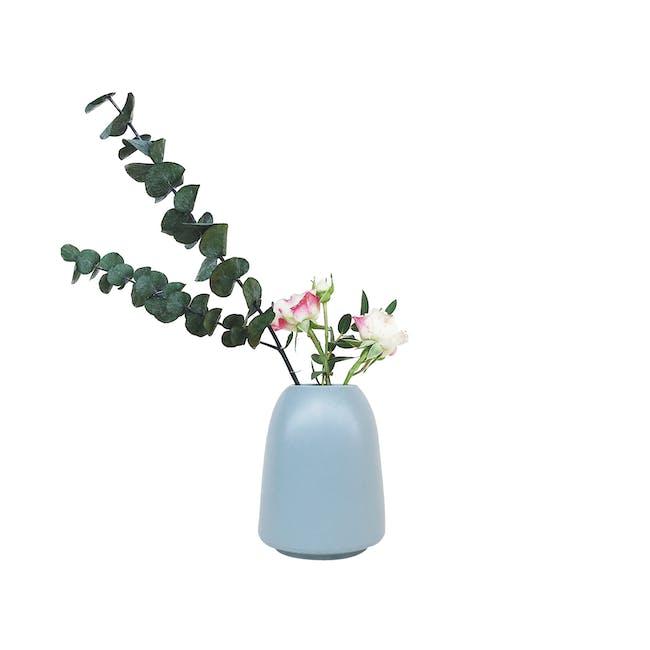 Nordic Matte Vase Cylinder with Wide Rim - Blue Grey - 0