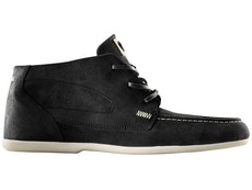 Caulfield Black/Cement Medium Waxed Suede Shoes