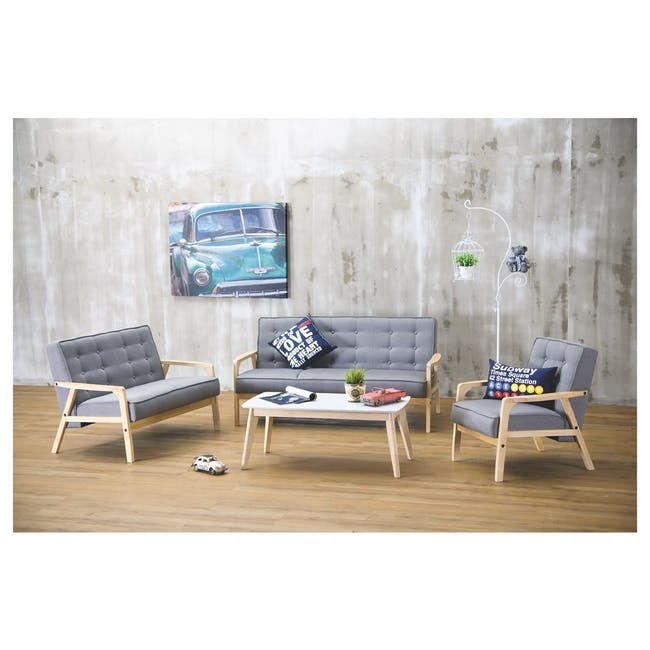 Aalto TV Cabinet 1.6m with Kyra High Coffee Table - Cocoa - 12
