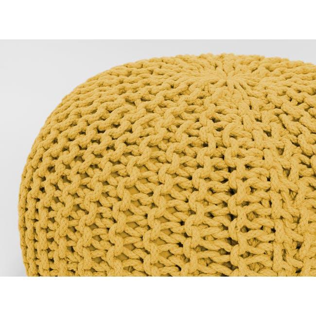 Moana Knitted Pouf - Yellow - 2