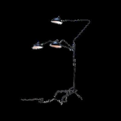 Mantis 3-Arm Floor Lamp - Matte Black - Image 2