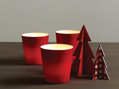 Cheers Votive Candle Holder - Red - Image 1