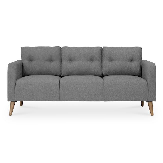 Bennett 3 Seater Sofa - Gray Owl - 0