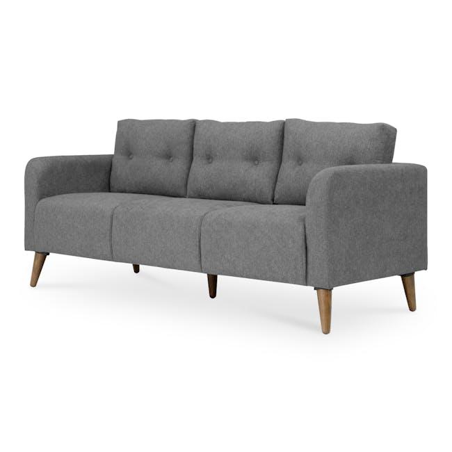 Bennett 3 Seater Sofa with Bennett 2 Seater Sofa - Gray Owl - 3