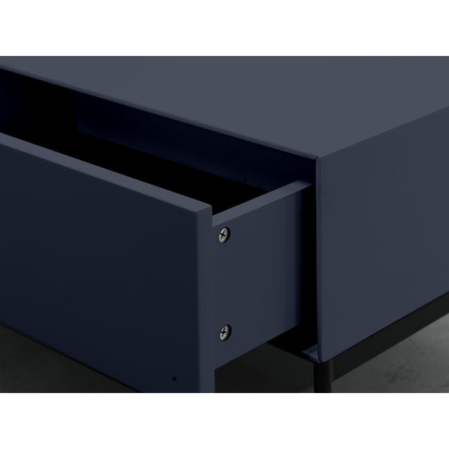 Lamont TV Console 1.2m in Grey with Dana Rectangular Coffee Table in Walnut - 6