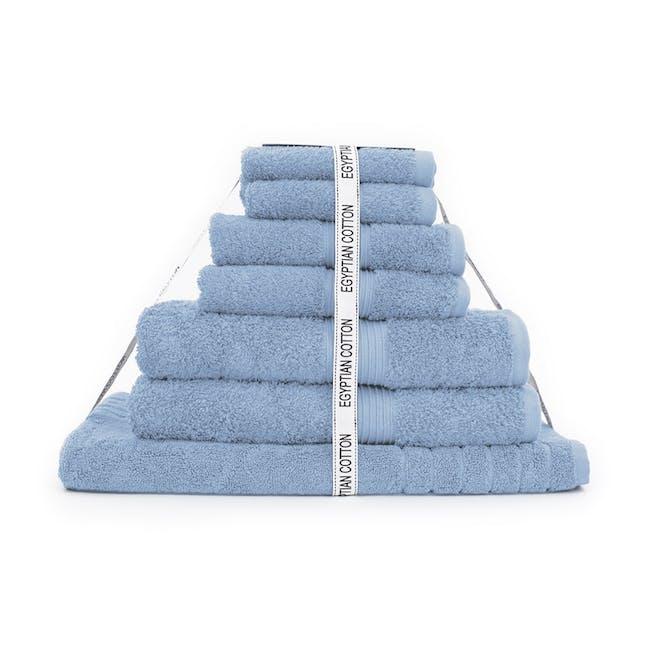 Canningvale Egyptian Royale 7pc Towel Set - Cielo Blue - 0