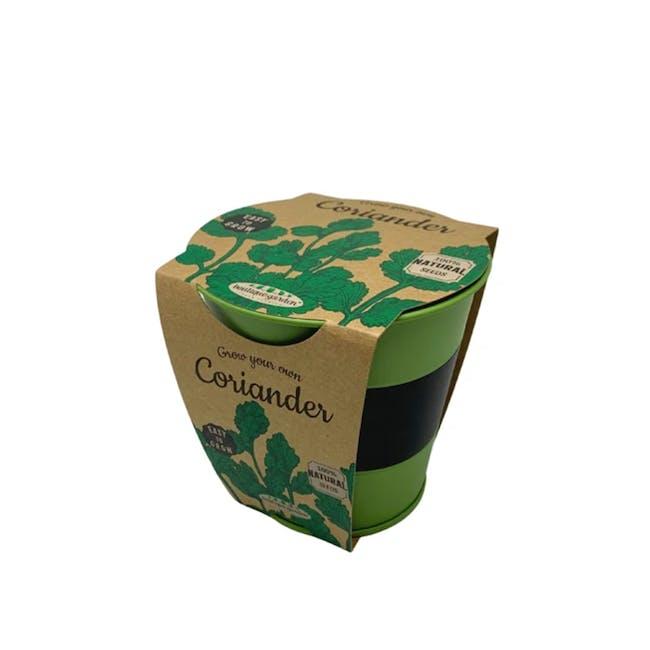 Pastel Coloured Pot With Chalk: Coriander - 0