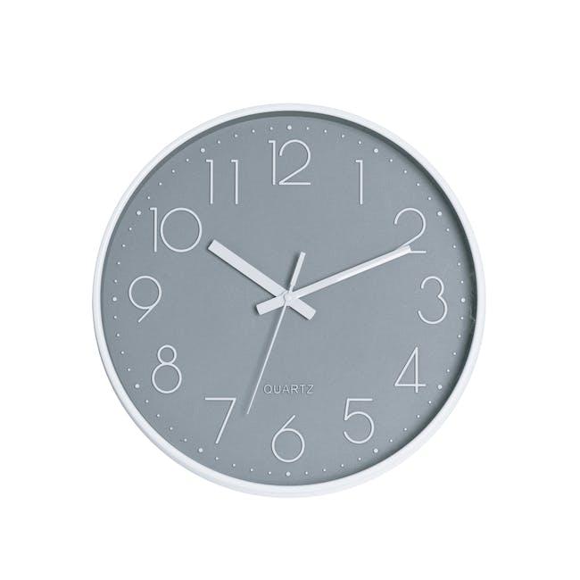 Numbera Wall Clock - Grey - 0