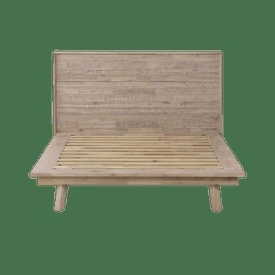 Leland Queen Platform Bed with 2 Leland Twin Drawer Bedside Tables - Image 2