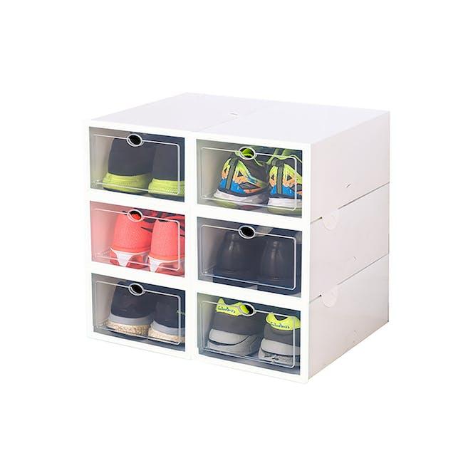 SoleMate 'EZ' Stackable Drop Lid Shoe Box (Pack of 6) - 0