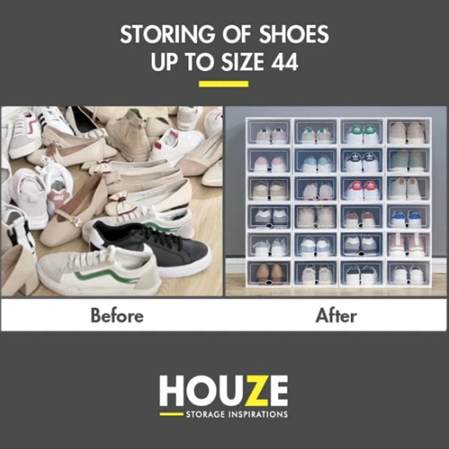 SoleMate 'EZ' Stackable Drop Lid Shoe Box (Pack of 6) - 2