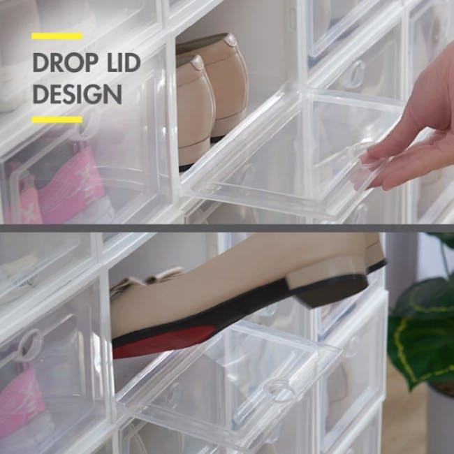 SoleMate 'EZ' Stackable Drop Lid Shoe Box (Pack of 6) - 3