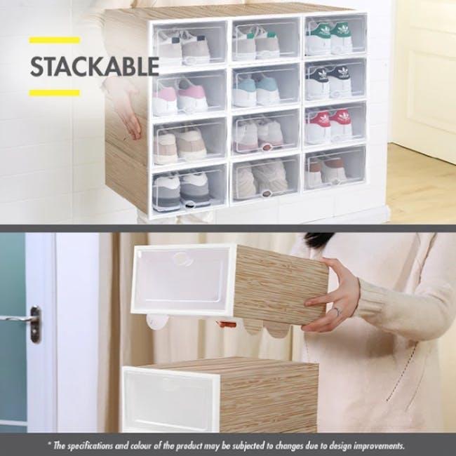 SoleMate 'EZ' Stackable Drop Lid Shoe Box (Pack of 6) - 4
