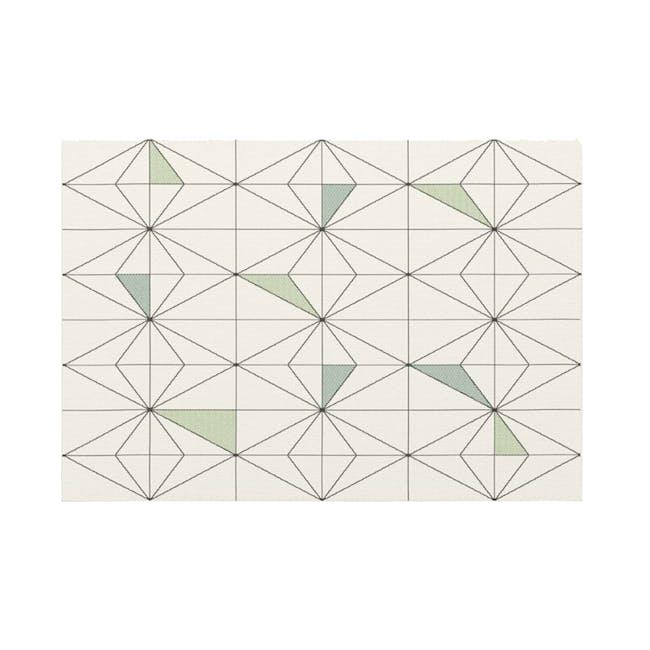 Star Flatwoven Rug 1.7m x 1.2m - Sage Geo - 0