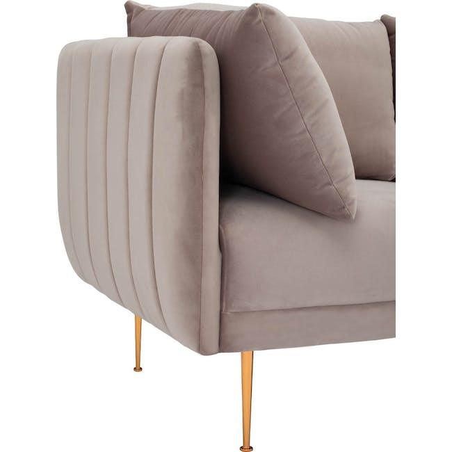 Esme 3 Seater Sofa - Blush (Velvet) - 4